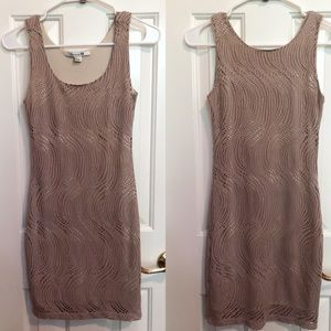 Forever 21 Nude Bodycon Dress Small
